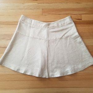 NY&Co Metallic Gold Skater Skirt - Size 16